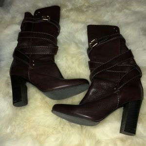 Chloe brown leather calf boots